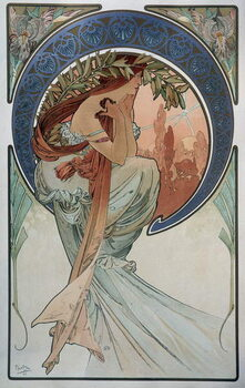 Poetry - by Mucha, 1898. Reproducere