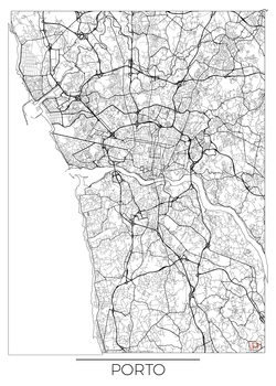 Harta orașului Porto