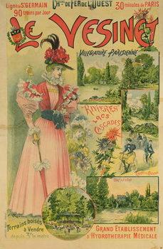 Poster for the Chemins de Fer de l'Ouest to Le Vesinet, c.1895-1900 Reproducere