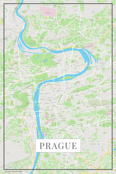 Harta orașului Prague color