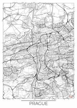 Harta orașului Prague