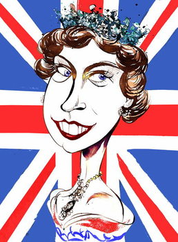 Queen Elizabeth II   , young  by Neale Osborne Reproducere