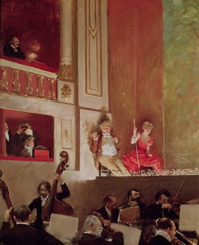Revue at the Theatre des Varietes, c.1885 Reproducere