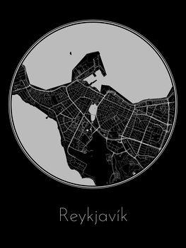 Harta orașului Reykjavík