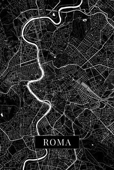 Harta orașului Roma black