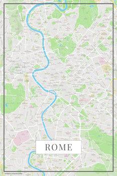 Harta orașului Rome color