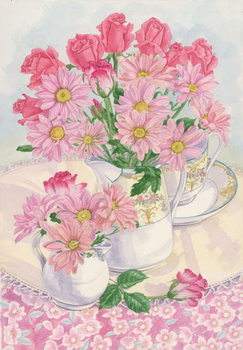 Roses and Chrysanthemums, 1996 Reproducere