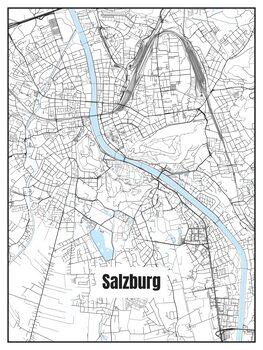 Harta orașului Salzburg
