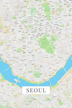 Harta orașului Seoul color