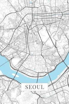Harta orașului Seoul white