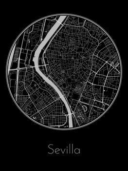 Harta orașului Sevilla