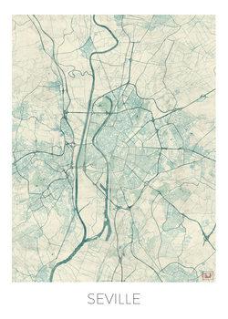 Harta orașului Seville