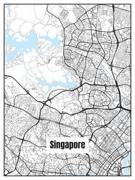 Harta orașului Singapore