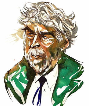 Sir Harrison Birtwistle - colour caricature Reproducere