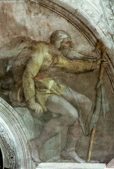 Sistine Chapel Ceiling: One of the Ancestors of God Reproducere