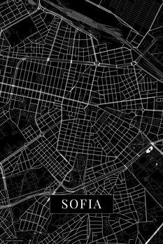 Harta orașului Sofia black
