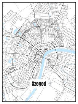 Harta orașului Szeged