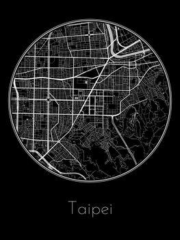 Harta orașului Taipei