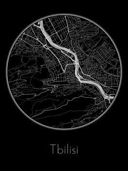 Harta orașului Tbilisi