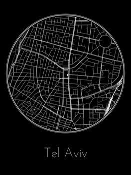 Harta orașului Tel Aviv