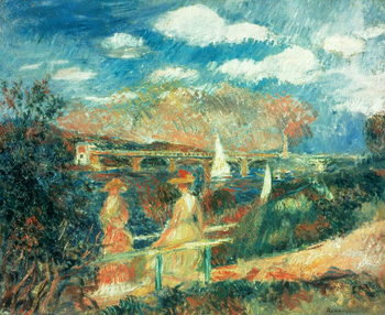 The banks of the Seine at Argenteuil, 1880 Reproducere
