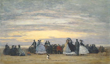 The Beach at Villerville, 1864 Reproducere