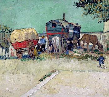 The Caravans, Gypsy Encampment near Arles, 1888 Reproducere