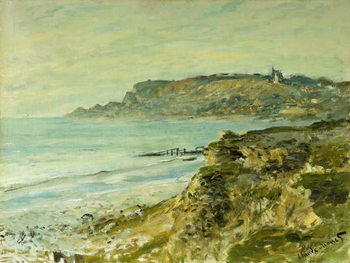 The Cliffs at Sainte-Adresse; La Falaise de Saint Adresse, 1873 Reproducere