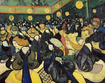 The Dance Hall at Arles, 1888 Reproducere
