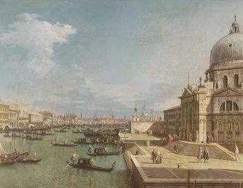 The Entrance to the Grand Canal and the church of Santa Maria della Salute, Venice Reproducere