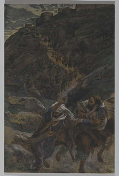 The Flight of the Apostles, illustration from 'The Life of Our Lord Jesus Christ', 1886-94 Reproducere