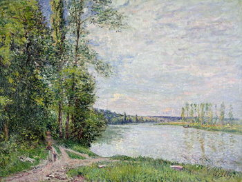 The Riverside Road from Veneux to Thomery, 1880 Reproducere