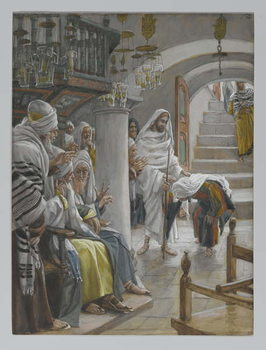 The Woman with an Infirmity of Eighteen Years, illustration from 'The Life of Our Lord Jesus Christ', 1886-96 Reproducere