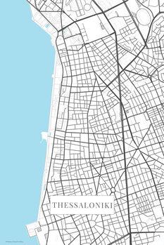 Harta orașului Thessaloniki bwhite