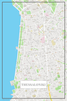 Harta orașului Thessaloniki color