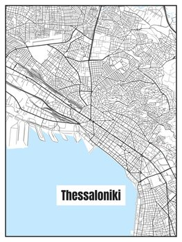 Harta orașului Thessaloniki