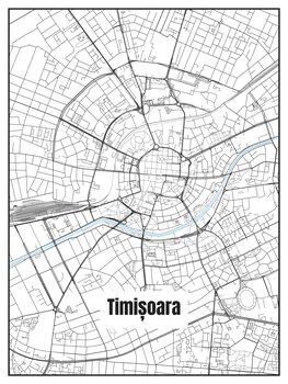 Harta orașului Timișoara