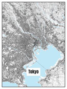 Harta orașului Tokyo