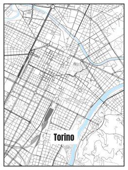 Harta orașului Torino