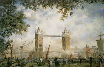 Tower Bridge: From the Tower of London Reproducere