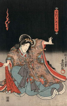 Ukiyo-e Print of an Actor in a Female Role by Kunisada Reproducere