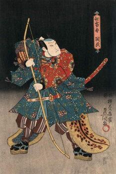 Ukiyo-e Print of an Actor Playing a Samurai by Kunisada Reproducere