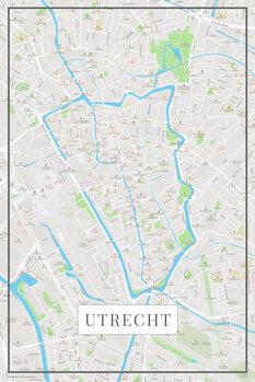 Harta orașului Utrecht color