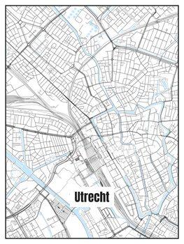 Harta orașului Utrecht