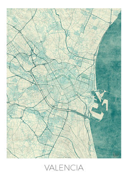 Harta orașului Valencia