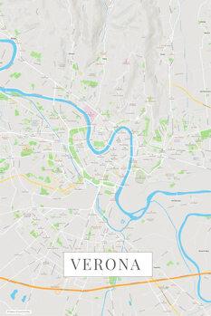 Harta orașului Verona color