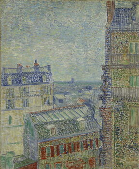 View of Paris from Theo's apartment in the rue Lepic, 1887 Reproducere
