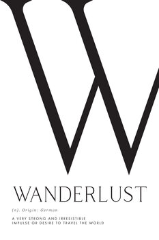 Ilustrare Wanderlust definition typography art