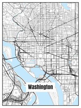 Harta orașului Washington