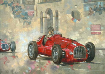Whitehead's Ferrari passing the pavillion, Jersey Reproducere